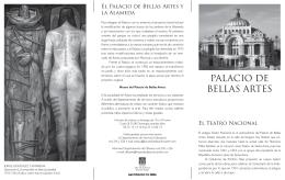 Folleto fotocopia.indd - Museo del Palacio de Bellas Artes