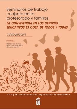 Seminarios de trabajo conjunto entre profesorado y familias