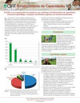Fortalecimiento de Capacidades: CIAT Folleto Institucional