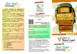 folleto curso diocesano de monitor de tiempo libre 2015