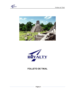 FOLLETO DE TIKAL - Colegio Royalty