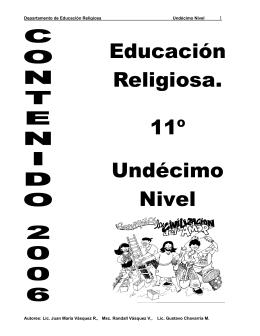 05 Folleto de Educación Religiosa Undécimo nivel