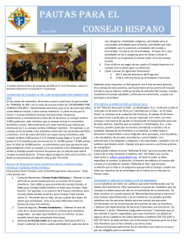 PAUTAS para El Consejo Hispano