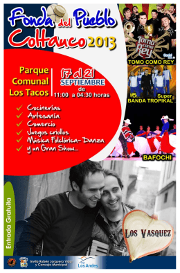 folleto fiestas patrias