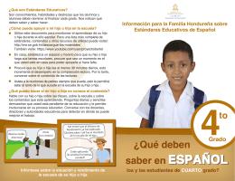 Información para la Familia Hondureña sobre Estándares Educativos