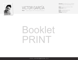 VICTOR GARCÍA - Victor Garcia | Graphic Design and Web