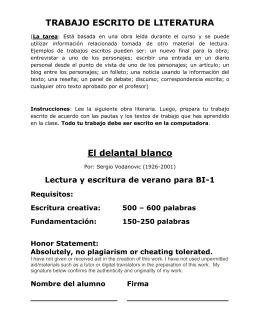 TRABAJO ESCRITO DE LITERATURA El delantal blanco