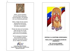 Novena por la paz de Venezuela (Folleto) 2012
