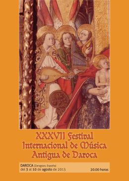 Folleto del XXXVII Festival