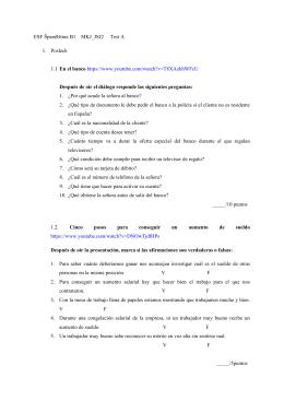 ESF Španělština B1 MKJ_JSJ2 Test A 1. Poslech 1.1 En el banco