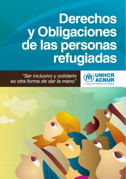 Folleto: Derechos y obligaciones de las personas refugiadas