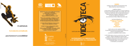 Folleto informativo del Programa Videoteca Subtitulada