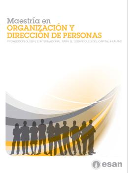 Maestría en ORGANIZACIÓN Y DIRECCIÓN DE PERSONAS