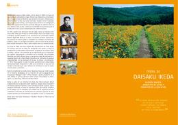 Perfil de Daisaku Ikeda Folleto