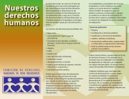 Nuestra Derechos Humanos folleto -
