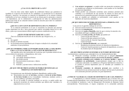 FOLLETO LEY DE DEPENDENCIA