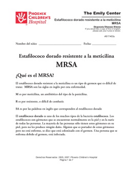Estafílococo dorado resistente a la meticilina