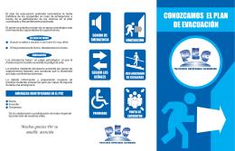 folleto de evacuacion