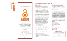 ATI folleto de espanol - Access to Independence, Inc.