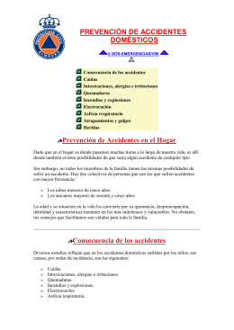 PREVENCIÓN DE ACCIDENTES DOMÉSTICOS