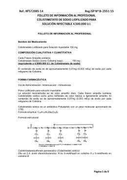 FOLLETO DE INFORMACION AL PROFESIONAL Nombre del