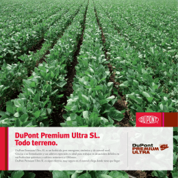 Folleto DuPont Premium Ultra SL 2014 copy