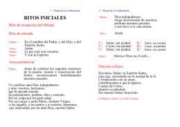 Ritual de la Confirmación - Diócesis de Teruel y Albarracín