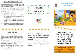 Folleto informativo - Ayuntamiento de Mombeltrán