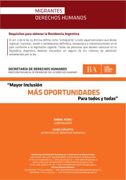 migrantes folleto para web - Secretaría de Derechos Humanos