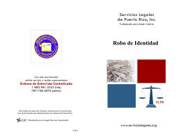 Folleto: Robo de identidad