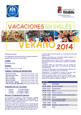 folleto TALLERES VERANO A4 2014