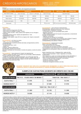 Folleto - CRÉDITO TRADICIONAL - 4 agosto 2015