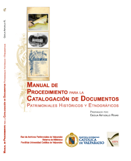 Manual de Procedimientos para la Catalogación de Documentos