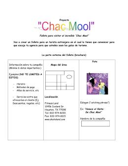 """Proyecto Folleto para visitar el increíble """"Chac Mool"""