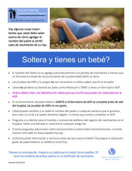 2015 Prental folleto para las madres españolas