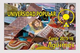 Folleto Universidad Aguimes 2015