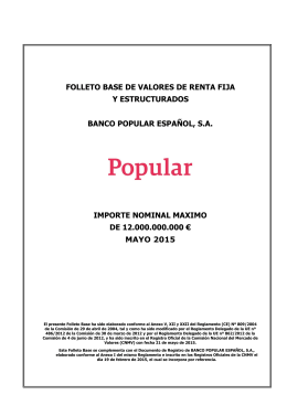 Folleto Base Valores de Renta Fija BPE 2015