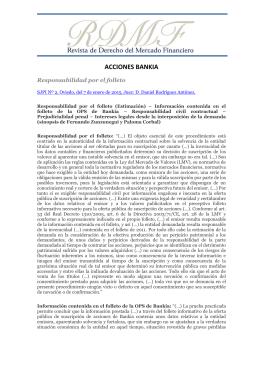 Sinopsis completa en PDF. - Revista de Derecho del Mercado