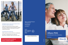 Folleto Allianz PIAS