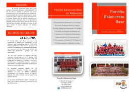 Folleto PBB Actividades - Porriño Baloncesto Base