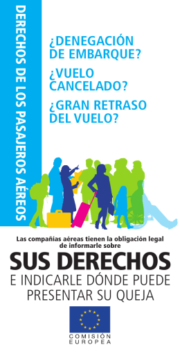 Derechos de los pasajeros, folleto completo