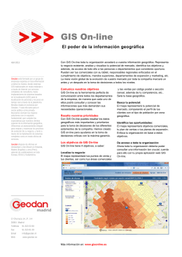 Folleto GIS On-line