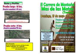 Folleto Carrera de Montaña Mas 2015