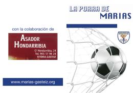 folleto LA PORRA DE MARIAS
