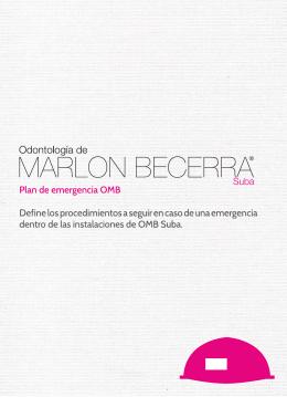 folleto plan de emergencias - Clínica Odontológica De Marlon