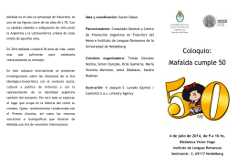 Folleto - Coloquio Mafalda