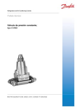 Válvula de presión constante, tipo CVMD Folleto técnico