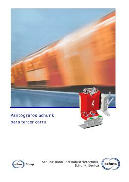Folleto - pantógrafos de tercer carril de Schunk