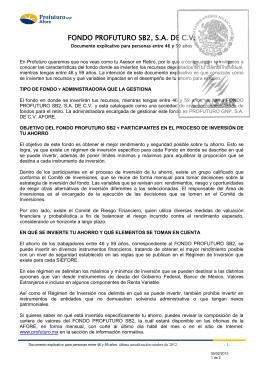 FONDO PROFUTURO SB2, S.A. DE C.V.