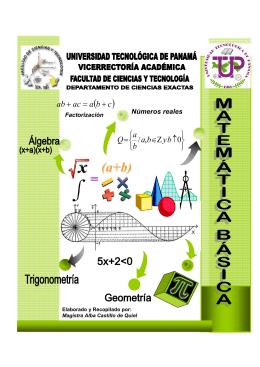 Folleto de Matemática Básica - Universidad Tecnológica de Panamá